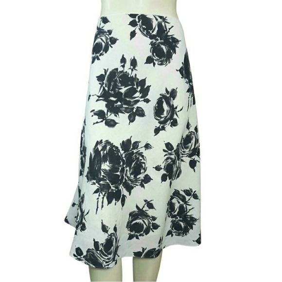 Talbots Dresses & Skirts - Talbots Linen Floral A-Line Skirt